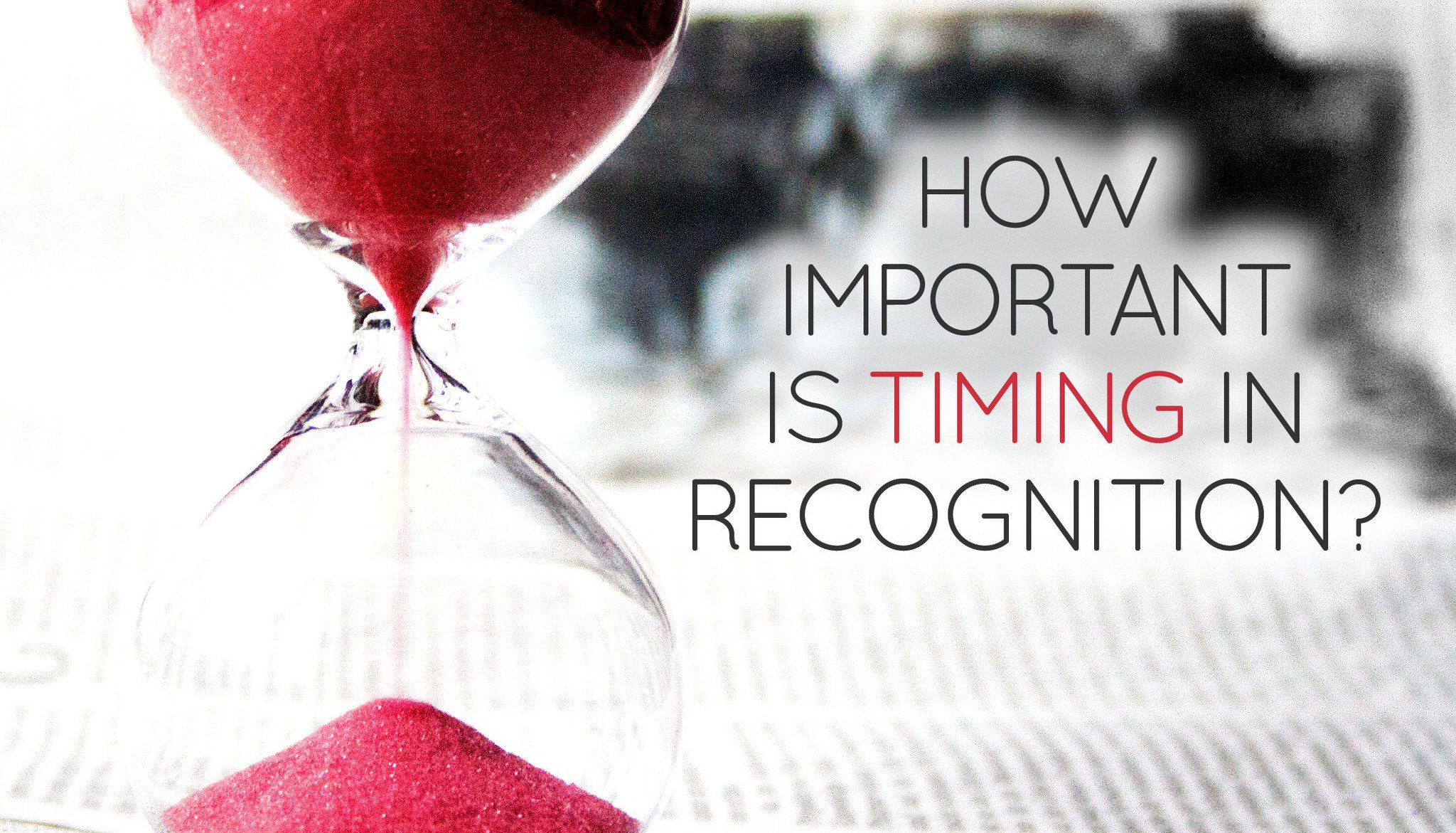 How Important is Timing in Recognition?