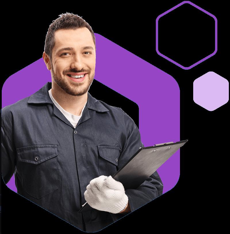 Offset mechanic hex purple-1