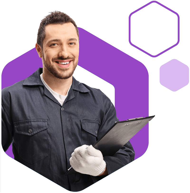 Offset mechanic hex purple