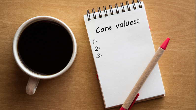 How to promote core values in the workplace